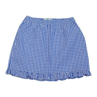 Lucy Ruffle Gingham Skirt, Blue