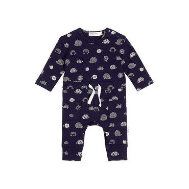 Hedgehog Playsuit, Navy