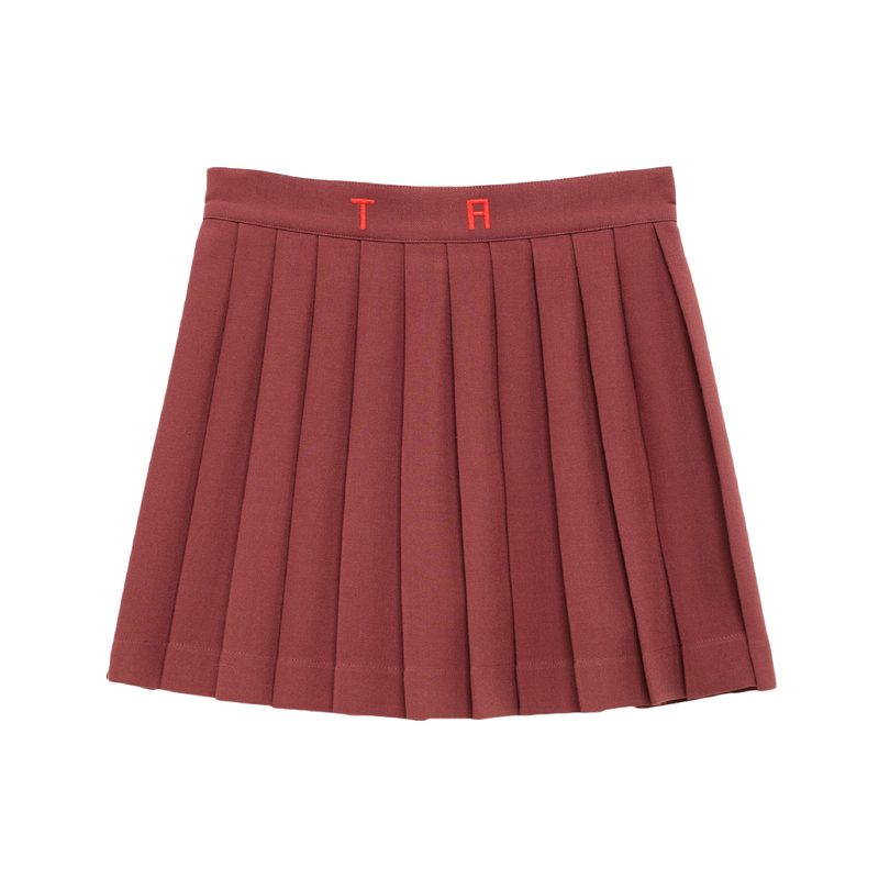 Turkey Skirt, Red Garnet Tao Initials
