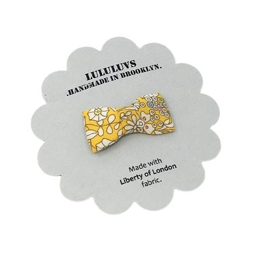 Itty Bitty Bow, Liberty of London Yellow Floral