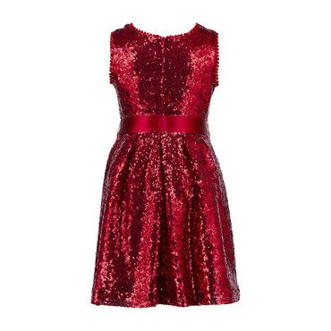 Sequin Dress, Red