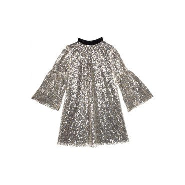 Sequin Hannah Dress, Silver