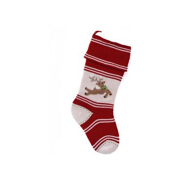 Reindeer Applique Stocking, Red