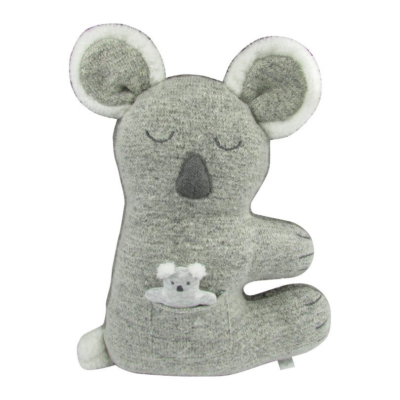 Plush Koala Knit Doll with Baby