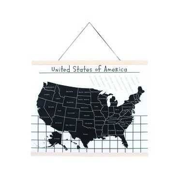 Canvas Wall Hanging, Map of the USA