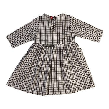Winnie Dress, Lavender & Chocolate Checks