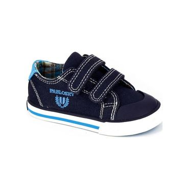 Velcro Sneaker, Navy Canvas